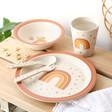 Lisa Angel with Cute Sass & Belle Children's Earth Rainbow Bamboo Tableware Set