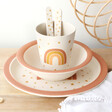 Lisa Angel with Natural Sass & Belle Children's Earth Rainbow Bamboo Tableware Set