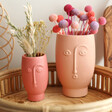 Lisa Angel Ceramic Sass & Belle Face Vases