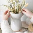 Lisa Angel Ceramic Sass & Belle Glazed Simple Face Vase