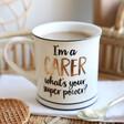 Lisa Angel with Ceramic Sass & Belle 'I'm A Carer' Mug