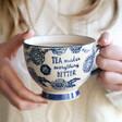 Lisa Angel with Sass & Belle Large Blue Willow Floral Mug