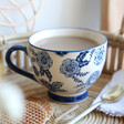 Lisa Angel with Ladies' Sass & Belle Large Blue Willow Floral Mug