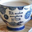 Lisa Angel Ceramic Sass & Belle Large Blue Willow Floral Mug