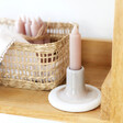 Lisa Angel Sass & Belle Mojave Glaze Grey Candle Stick