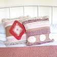 Lisa Angel Bohemian Sass & Belle Nevada Pink Woven Cushions