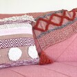 Lisa Angel Sass & Belle Nevada Pink Woven Stripe Cushion and Blanket