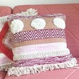 Lisa Angel Boho Sass & Belle Nevada Pink Woven Stripe Cushion