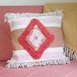 Lisa Angel with Sass & Belle Nevada Tufted Diamond Cushion