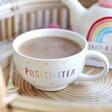 Lisa Angel with Mug From Sass & Belle Rainbow 'Positivitea' Teapot and Mug Set