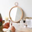 Lisa Angel Sass & Belle Round Rattan Table Top Mirror