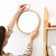 Sass & Belle Round Rattan Wall Mirror