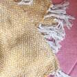 Lisa Angel Woven Sass & Belle Scandi Boho Mustard Blanket Throw