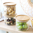 Lisa Angel with Sass & Belle Set of 3 Stacking Glass Storage Jars