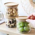 Compact Sass & Belle Set of 3 Stacking Glass Storage Jars