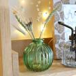 Sass & Belle Green Glass Bud Vase