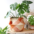 Lisa Angel with Boho Sass & Belle Terracotta Check Woven Seagrass Basket