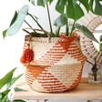 Lisa Angel with Sass & Belle Terracotta Check Woven Seagrass Basket