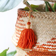 Lisa Angel with Large Sass & Belle Terracotta Check Woven Seagrass Basket
