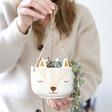 Lisa Angel with Ceramic Sass & Belle Woodland Fox Hanging Planter