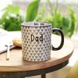 Sass & Belle Men's Geometric Dad Quote Mug