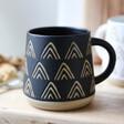 Lisa Angel Sass & Belle Wax Resist Triangles Mug in Black