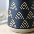 Sass & Belle Wax Resist Triangles Mug in Black