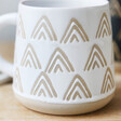 Sass & Belle Wax Resist Triangles Mug in White