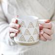 Lisa Angel Sass & Belle Wax Resist Triangles Mug in White