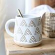 Ladies' Sass & Belle Wax Resist Triangles Mug in White
