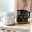 Lisa Angel Sass & Belle Wax Resist Triangles Mugs