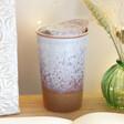 Sass & Belle White Glaze Ceramic Travel Mug