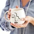 Sass & Belle Abstract Face Mug