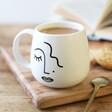 Sleek Sass & Belle Abstract Face Mug