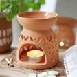 Lisa Angel Ceramic Geometric Terracotta Oil Burner