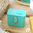 Lisa angel Turquoise Personalised Birth Flower Petite Travel Ring Box