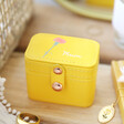 Lisa Angel Yellow Personalised Birth Flower Petite Travel Ring Box