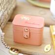 Lisa Angel Pink Personalised Birth Flower Petite Travel Ring Box