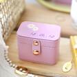 Lisa Angle Purple Personalised Birth Flower Petite Travel Ring Box