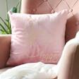 Ladies' Personalised Birth Flower Square Velvet Cushion