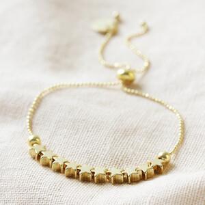Delicate Star Bead Friendship Bracelet in Gold