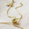 Lisa Angel Delicate Star Bead Friendship Bracelet in Gold Fastening