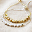 Lisa Angel Delicate Star Bead Friendship Bracelet in Gold and Silver