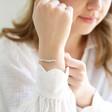 Lisa Angel Delicate Star Bead Friendship Bracelet On Model