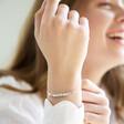 Lisa Angel Delicate Star Bead Friendship Bracelet in Silver on Model