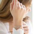 Lisa Angel Ladies' Delicate Star Bead Friendship Bracelet in Silver on Model