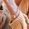 Personalised Adjustable Sparkle Bead Bracelet on Model