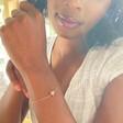 Lisa Angel Ladies' Single Star Bead Bracelet in Rose Gold on Model