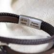Lisa Angel Men's Personalised Brown Leather Stainless Steel Infinity Bracelet for Boyfriend