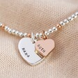 Lisa Angel Personalised 60th Birthday Rose Gold and Silver Bead Bracelet